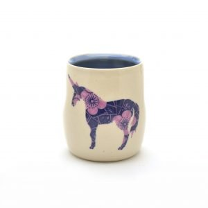 unicorn cup by meghan bernard, wheel thrown cup
