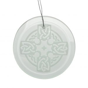 round celtic cross ornament, religious irish gift
