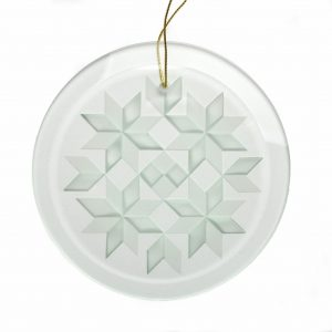 round quilt ornament, gift for the quilter, appalachian quilter gift