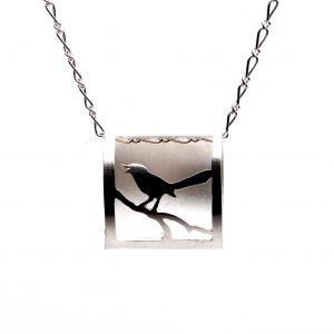 3d bird necklace, #put a bird on it, nc craft gallery, handmade affordable jewelry