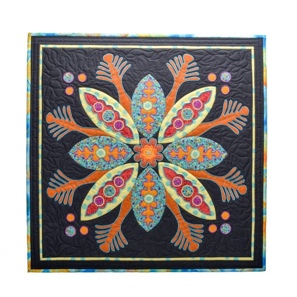 square black wall hanging quilt