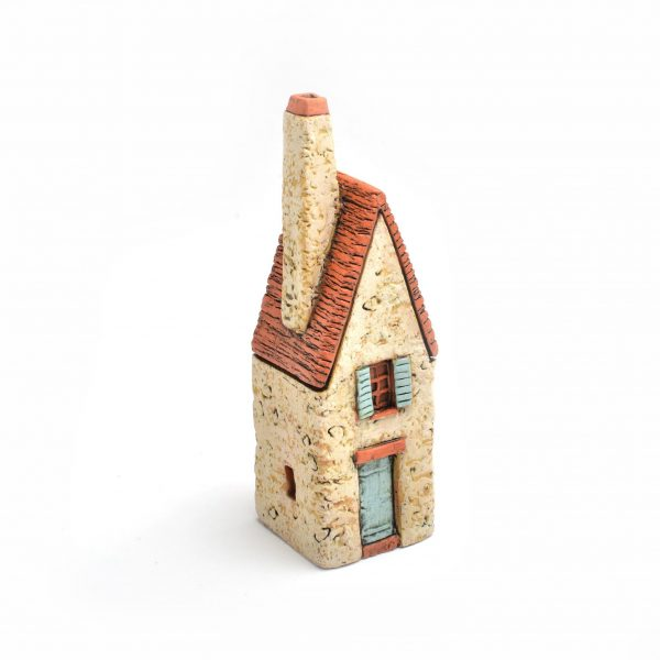 small ceramic clay house sculpture, house warming gift, nc clay artist, folk art center,