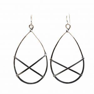 silver modern jewelry, light large hoop earrings, nc jeweler, asheville jewelry, artful home hoops