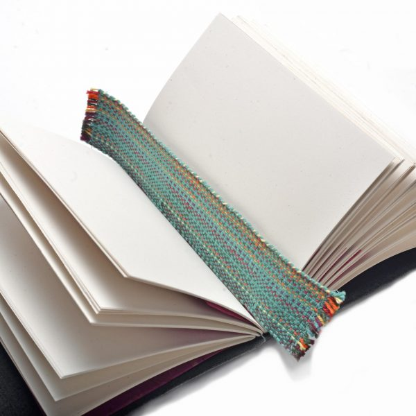 handmade multi-colored woven bookmark with fringe edges by Crossnore Weavers