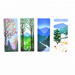 mountain notecards, seasonal handmade cards, nc printer