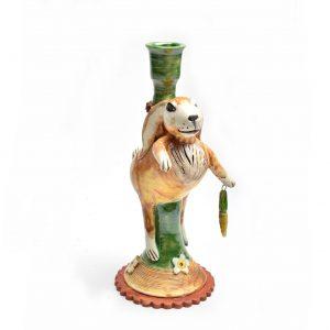 whimsical clay art, nc clay, folk art center, outsider art, ceramic clay art, clay animal sculpture