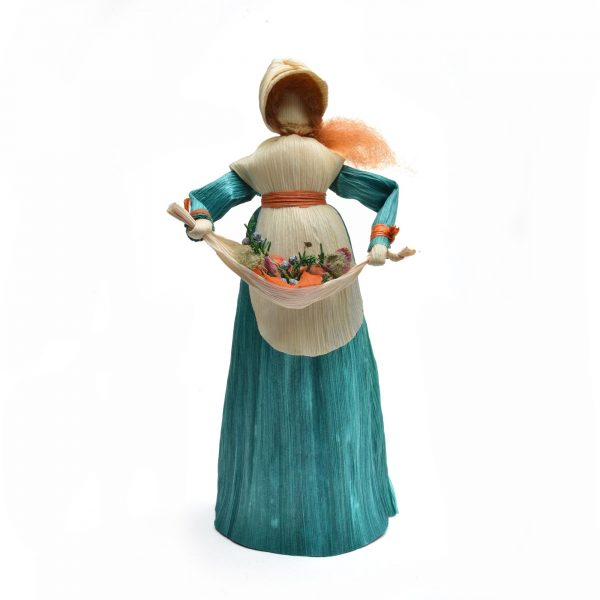 corn shuck gatherer, mountain heritage crafts, traditional corn shuck doll,
