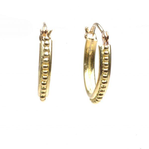 granulated hoops, everyday jewelry, handmade gold hoops, handmade silver hoops
