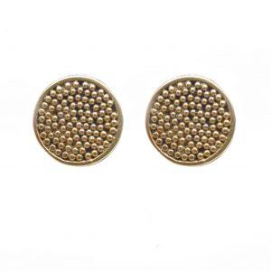 gold post earrings, small classy gold earrings, handmade gold studs