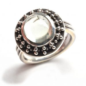classic handmade rings, granulated gemstone rings, folk art center, nc jeweler