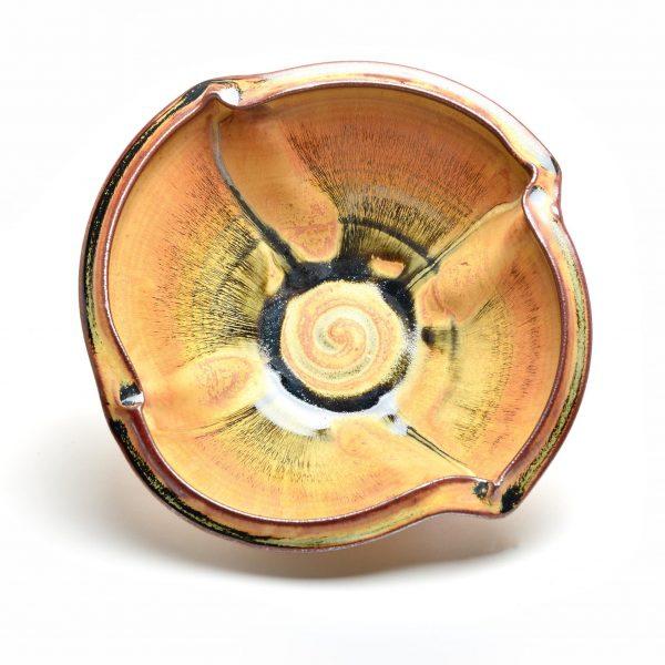 handmade ceramic brown serving bowl