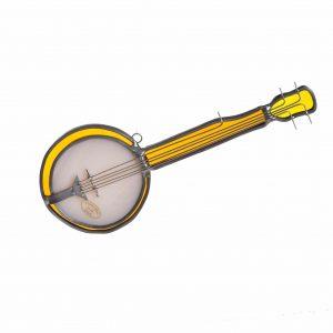banjo gift, banjo suncatcher, appalachian music gift,