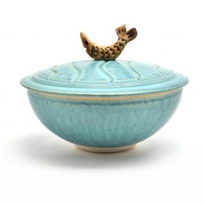 fish bowl, lidded jar bowl, sc pottery,
