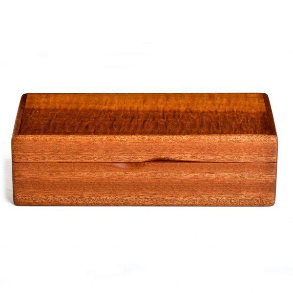 cherry and sapele wooden keepsake box, handmade wooden jewelry box, handmade wooden box,