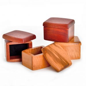 small handmade wooden box, wood jewelry box, nc woodworker, bloodwood box
