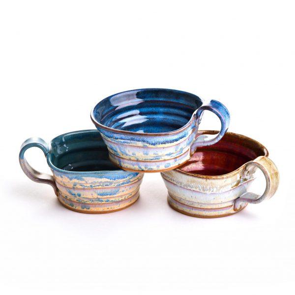 pottery mug, pottery bucket mug