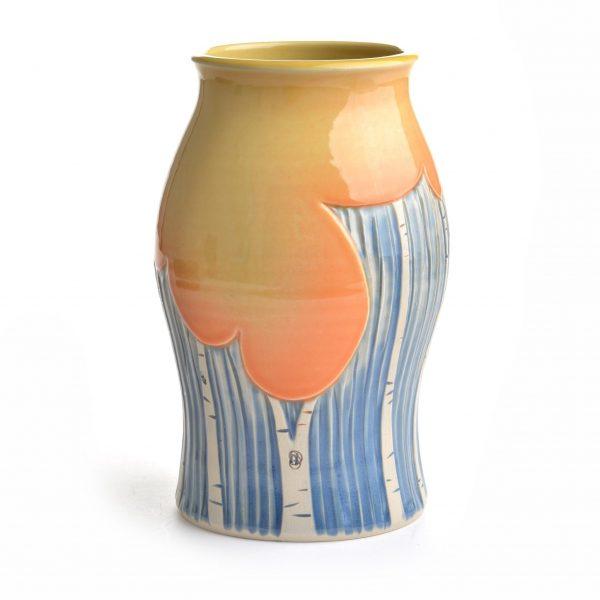 FALL DECOR, handmade ceramic vase, folk art center, dr. seuss decoration