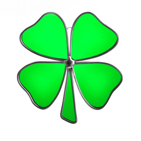 good luck gift, st. patricks day decor, handmade clover gift, irish gift