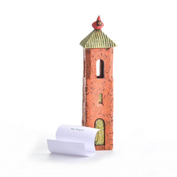 gift for grief, handmade religious gift, handmade prayer gift, house sculpture, nc clay sculpture, small sculpture, cardinal bird sculpture,