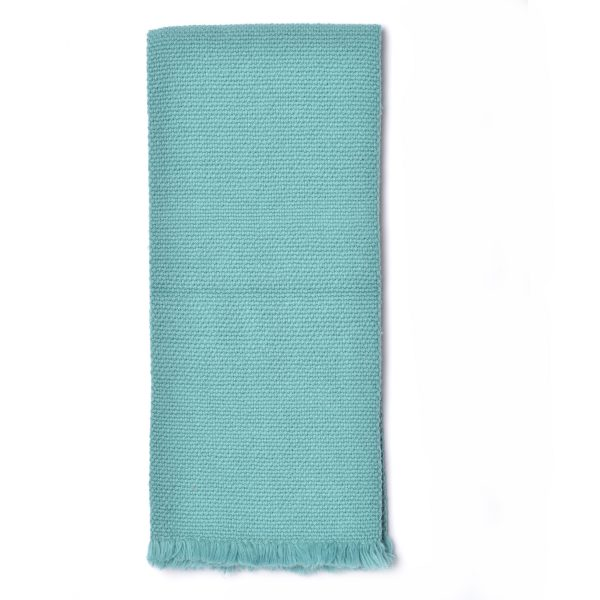 teal handmade dishtowel, home for girls, weaving room