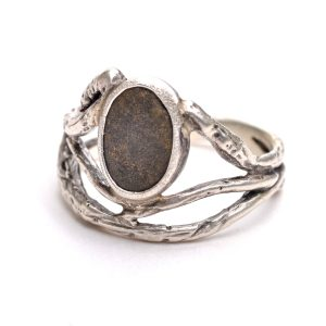 river stone silver ring, mountain stream ring, jason janow