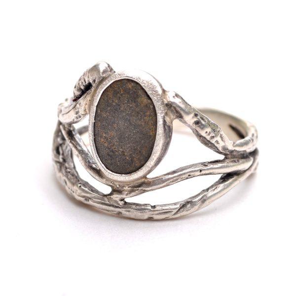 river stone silver ring, mountain stream ring, jason janow