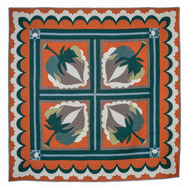 Georgia bonesteel cotton boll quilt and sham