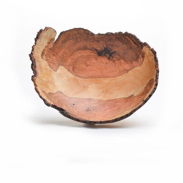 natural edge wood turned bowl, sc wood artist, folk art center, sc woodworker,