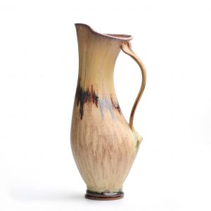 tall pitcher, handmade kitchen decor, village potters, nc clay