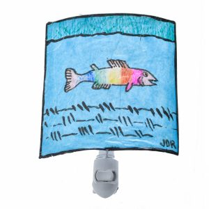 rainbow trout nightlight, crazy art, kids night light,funny craft