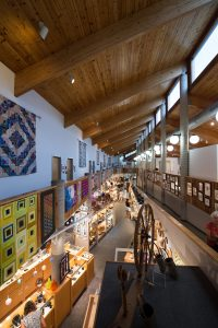 inside folk art center, blue ridge parkway, southern craft shop
