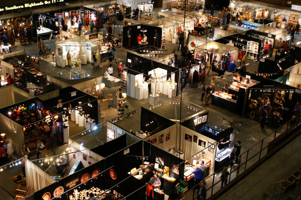 inside the us cellular center, nc craft fair, asheville craft fair, craft events