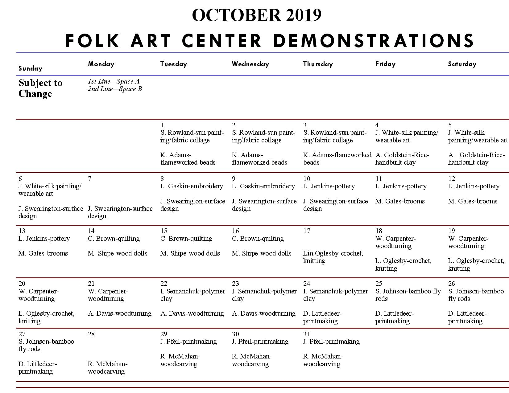craft demonstrations, craft classes, what to do in asheville, october events asheville, asheville craft, blue ridge parkway