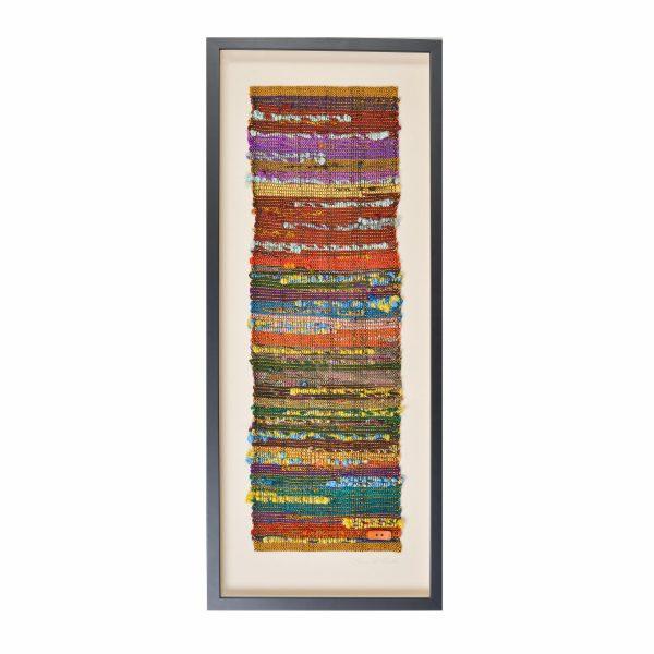 framed fiber art, nc fiber artist, fiber wall art