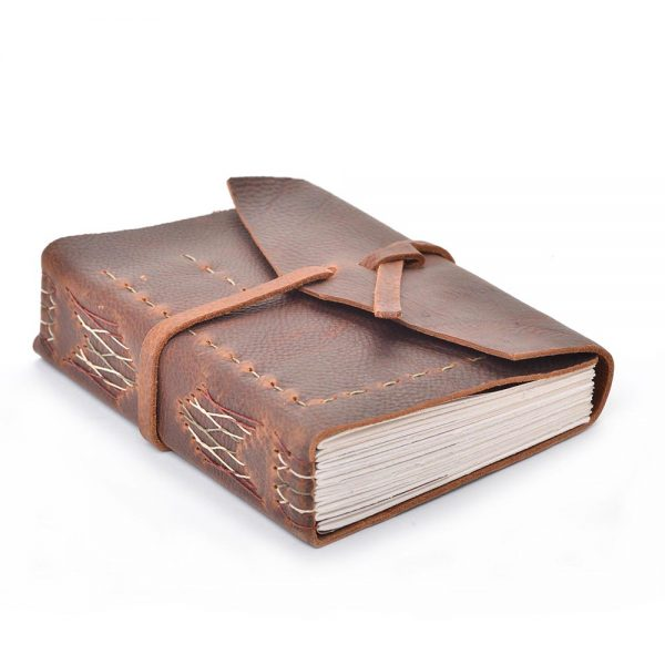 handmade leather journal, gift for the artist, gift for the writer, leather notebook