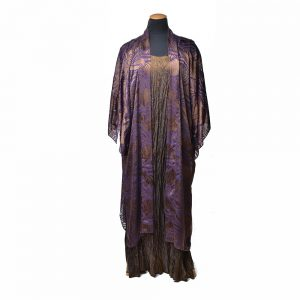 hand dyed devore silk cover, handmade silk dress, nc fiber artist