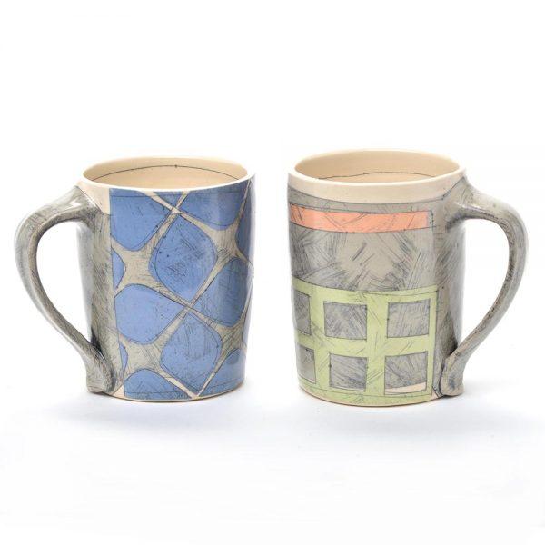 benyo pottery, handmade ceramic mug, asheville potter, nc clay, north carolina potter, folk art center