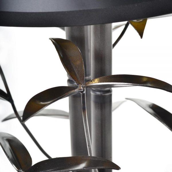 detail of handmade bamboo lamp, high end lighting,