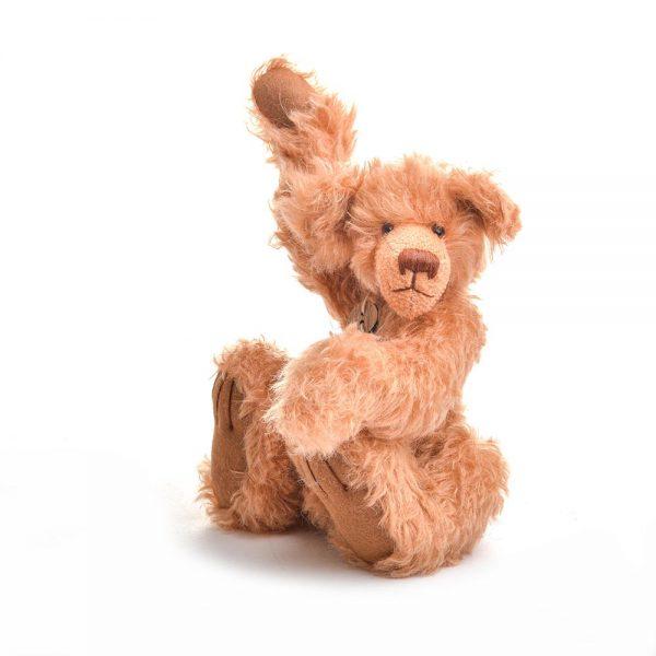 mohair teddy bear, handmade kids bear, collectible bear, traditional crafts, nc fiber artist, felt artist, nc crafts, folk art center, traditional gift