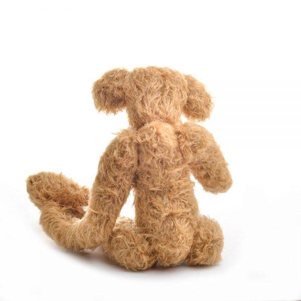 rear view of skinny teddy bear, unique handmade teddy bear, handmade teddy bear,