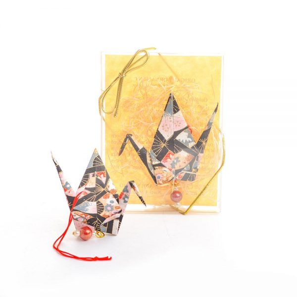 paper crane ornament, paper artist holiday decor, chinese symbolism ornament