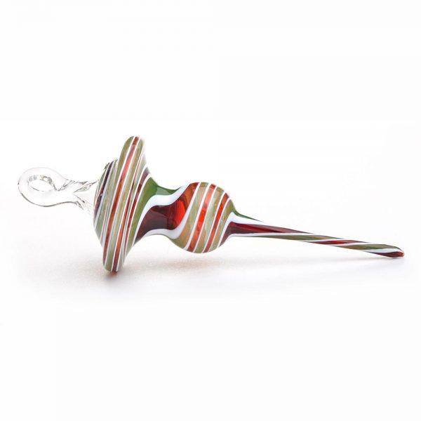 handmade holiday glass ornament, asheville glass ornament, folk art center christmas
