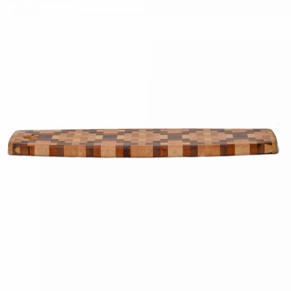 long cheese board, wooden copperhead design tray