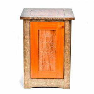 handmade wooden cabinet, nc woodworker, folk art center