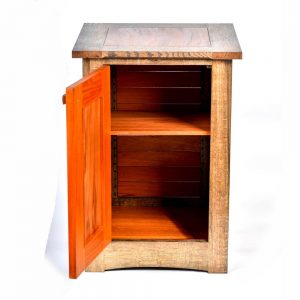 handmade cabinet with open door, handmade wooden furniture, nc made furniture