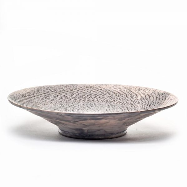 black rak u bowl, black and red pottery bowl raku