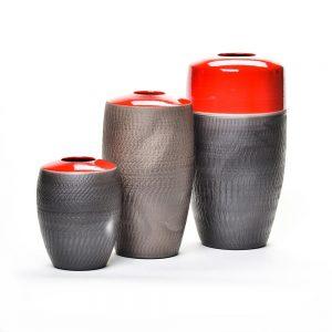 ollie series, nc raku pottery