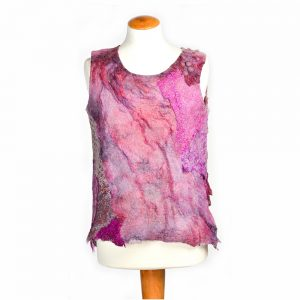 felted pink tank top
