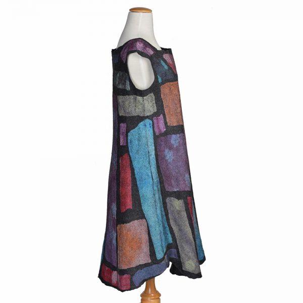felted patchwork dress, unique dress