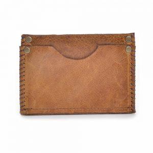 handmade leather pocket card holder, small men's wallet, leather pocket wallet